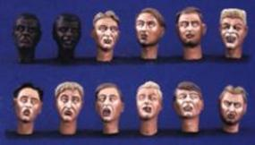 Verlinden Character Head Set Resin Model Figure Kit 1/35 Scale