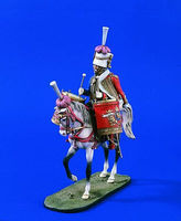 Verlinden 120mm Chasseurs a Cheval Kettle Drummer Resin Model Military Figure Kit 1/16 Scale #1612