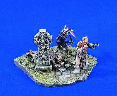 Verlinden Productions 54mm Viking Raid Diorama Set -- Resin Model Figure Kit -- 1/32 Scale -- #1633