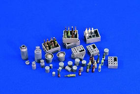 Verlinden Bottle, Crates & Cans Plastic Model Detailing Accessory 1/35 Scale #1643