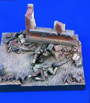 Verlinden Productions WWII US Infantry Trapped -- Resin Military Diorama Kit -- 1/35 Scale -- #1663