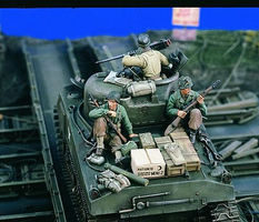 Verlinden US Tank Riders Set #1 Resin Model Military Figure Kit 1/35 Scale #1683