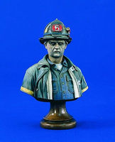 Verlinden 200mm FDNY Firefighter Bust Resin Model Figure Kit 1/10 Scale #1781