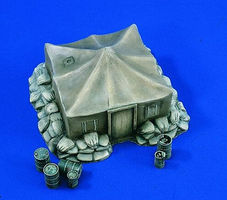 Verlinden Airfield Military Tent Resin Military Diorama Kit 1/48 Scale #1794