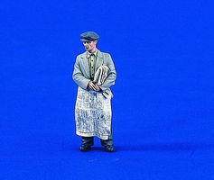 Verlinden Newspaper Salesman WWII Resin Model Figure Kit 1/35 Scale #1799