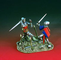 Verlinden 54mm Battling Knights Diorama Set Resin Model Military Figure Kit 1/32 Scale #1922