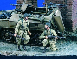 Verlinden WWII US Airborne (2) Resin Model Military Figure Kit 1/35 Scale #1927
