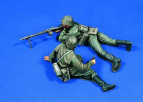 Verlinden 120mm SS Machine Gun Team Resin Model Military Figure Kit 1/16 Scale #1946
