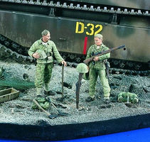 Verlinden Shallow Grave - Marines WWII Resin Model Military Figure Kit 1/35 Scale #1981