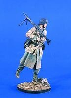 Verlinden 120mm WWII Luftwaffe Field Division Machine Gunner Resin Model Figure Kit 1/16 Scale #2053