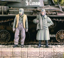 Verlinden German POWs Winter Dress Resin Model Military Figure Kit 1/35 Scale #2141
