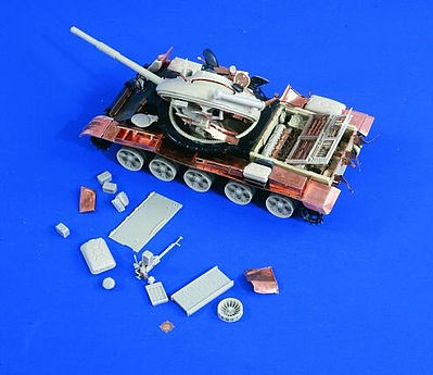Verlinden Productions 1/35 T62 Detail Set & Full Interior w/Battle Damaged Parts & Photo-Etched for TAM