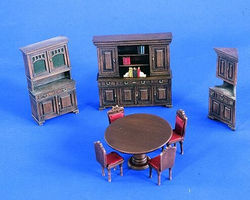 Verlinden Dining Room Furniture Resin Military Diorama Kit 1/35 Scale #2230