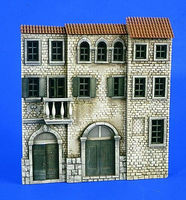 Verlinden Italian 3-Story House Front Resin Military Diorama Kit 1/35 Scale #2260