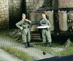 Verlinden German Dispatch Riders Resin Model Military Figure Kit 1/48 Scale #2298
