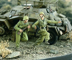 Verlinden Africa Korps WWII Running Resin Model Military Figure Kit 1/35 Scale #2304