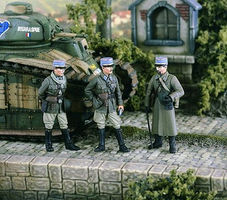 Verlinden French Officers 1940 (3) Resin Model Military Figure Kit 1/35 Scale #2350