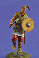 Verlinden 200mm Celtic Warrior with Shield & Axe Resin Model Figure Kit #2464