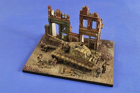 Verlinden Bombed Out Street Ruin 2-Story Wall Section Resin Military Diorama Kit 1/35 Scale #2492