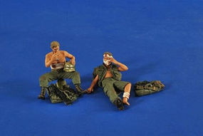 Verlinden Wounded Soldiers Vietnam (2) Resin Model Military Figure Kit 1/35 Scale #2522