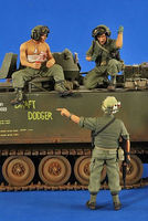Verlinden US Tankers & Grunt Vietnam (3) Resin Model Military Figure Kit 1/35 Scale #2570