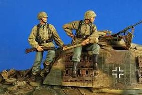 Verlinden German Tank Riders (2) Resin Model Military Figure Kit 1/35 Scale #2624