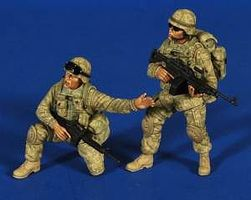 Verlinden Modern US Firepower Iraq Afghanistan (2) Resin Model Military Figure Kit 1/35 Scale #2658