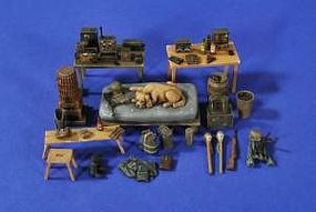 Verlinden German Command Post Interior Accessories Resin Military Diorama Kit 1/35 Scale #2670