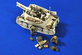 Verlinden German Grille Tank Ammo, Stowage & 2 Crew Resin Model Military Figure Kit 1/35 Scale #2707