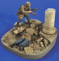 Verlinden Fallschirmjager Casino Diorama Resin Military Diorama Kit 1/35 Scale #2752
