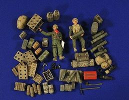 Verlinden M109 A2s Ammo, 2 Crew & Gear Resin Model Military Figure Kit 1/35 Scale #2772