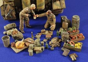 Verlinden WWII German Tankers with Camping Accessories Resin Military Diorama Kit 1/35 Scale #27