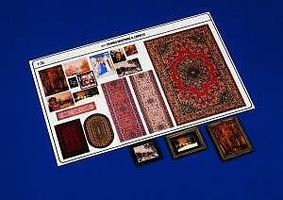 Verlinden Framed Paintings & Carpet Plastic Model Detailing Accessory 1/35 Scale #307