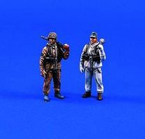 Verlinden 54mm German Infantry, Winter Dress (2) Resin Model Military Figure Kit 1/32 Scale #364