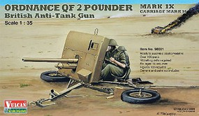 Vulcan 1/35 British Ordnance QF 2-Pdr Mk IX Carriage Mk II Anti-Tank Gun