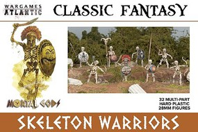 Wargames 28mm Classic Fantasy Skeleton Warriors w/Weapons (32)