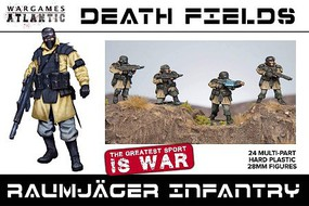 Wargames 28mm Death Fields Raumjager Infantry w/Weapons (24)