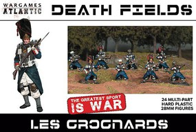 Wargames 28mm Death Fields Les Grognards w/Weapons (24)