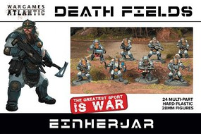 Wargames 28mm Death Fields Einherjar w/Weapons (24)