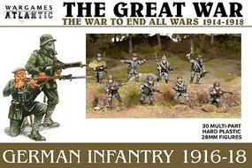 Wargames 28mm The Great War German Infantry 1916-1918 (30)