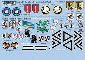 Warbird Luftwaffe Geschwader Insignia (13 Designs) Plastic Model Aircraft Decal 1/32 Scale #132015