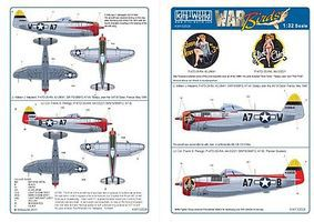 Warbird P47D Sleepy Jean the 3rd, Slick Chick Plastic Model Aircraft Decal 1/32 Scale #132028