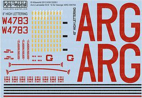 Warbird Avro Lancaster B III G for George ARG W4783 Plastic Model Aircraft Decal 1/32 Scale #132051