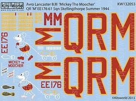 Warbird Avro Lancaster B III Mickey the Moocher Plastic Model Aircraft Decal 1/32 Scale #132053