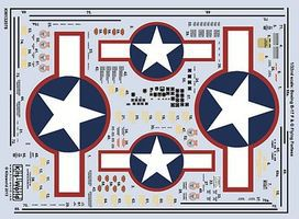 Warbird B17F/G Red Outlines Stars & Bars, Black Walkway Lines, Life Raft & Data Pane 1/32 #132078
