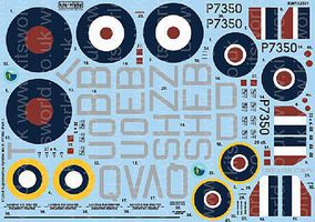 Warbird Supermarine Spitfire Mk IIa BBMF Pt.1 Plastic Model Aircraft Decal 1/32 Scale #132101