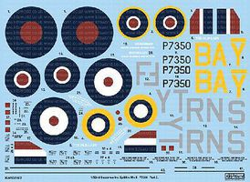 Warbird Supermarine Spitfire Mk IIa BBMF Pt.2 Plastic Model Aircraft Decal 1/32 Scale #132102