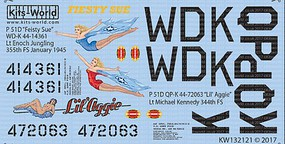 Warbird 1/32 P51D Fiesty Sue, Lil Aggie for RVL