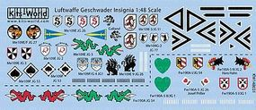 Warbird Luftwaffe Geschwader Insignia Plastic Model Aircraft Decal 1/48 Scale #148031