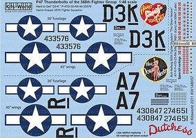 Warbird P47D Hard to Get, The Down Necker Plastic Model Aircraft Decal 1/48 Scale #148057